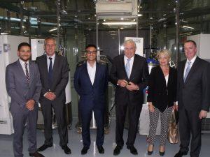 Françoise Grossetête MEP, Philippe Meunier Depute du Rhone, Senateur-Maire Michel Forissier, Professor McGuckin, Dr Forraz and Guests