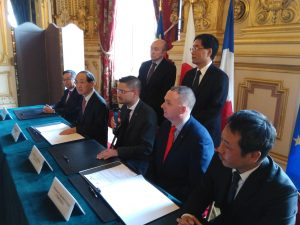 Official launch at Hotel de Ville Lyon of the Japanese-French partnership
